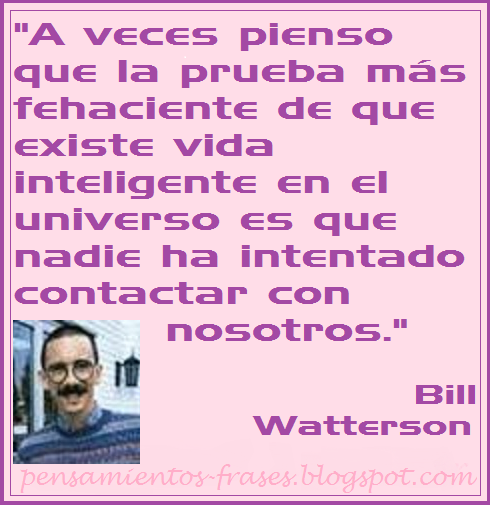 frases de Bill Watterson