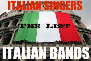 italian singers - bands - list