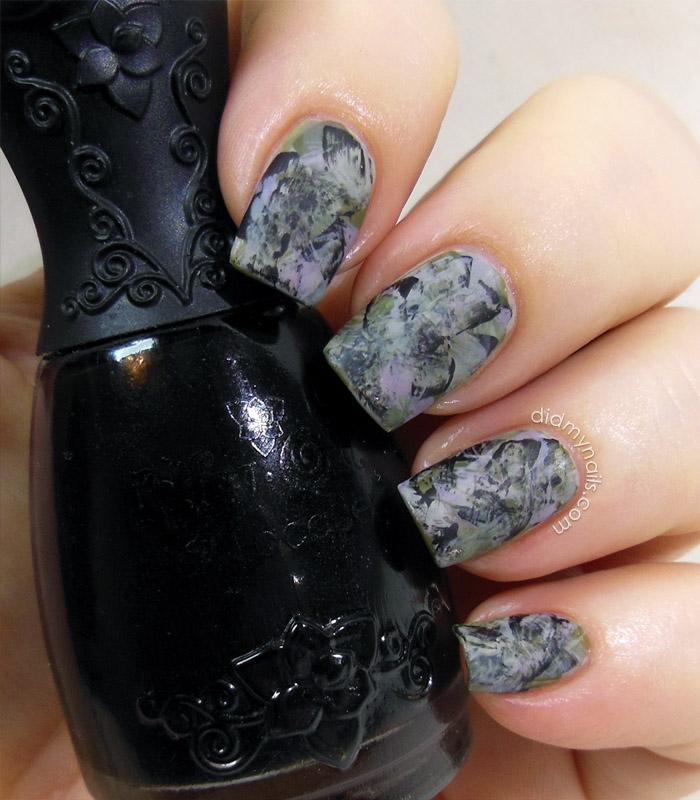 grunge matte brushstroke manicure