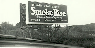 Smoke Rise Billboard, 1954, Route 23