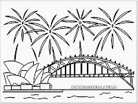 gambar mewarnai perayaan tahun baru 2014 di Sydney