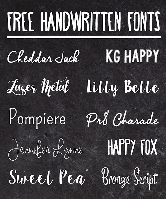 Handwritten Fonts That Also Happen To Be Free If Youre Not Sure How Download And Install On Your Computer Heres A Great Tutorial
