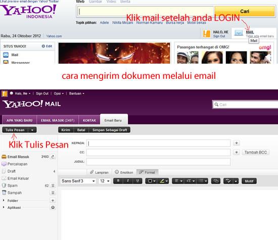 cara mengirim dokumen melalui email