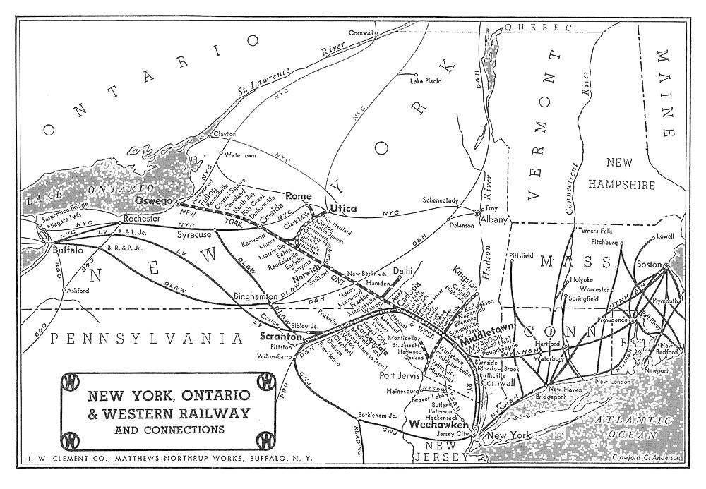 1898 Revenues  New York  Ontario   U0026 Western Railway