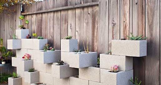 How to jardineras con bloques de hormig n - Amazon jardineras ...