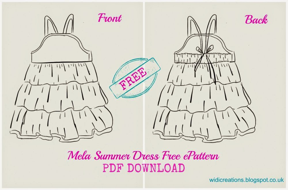 Summer dress free pattern 2T - 8T