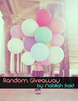 Random Giveaway by Nabilah Said