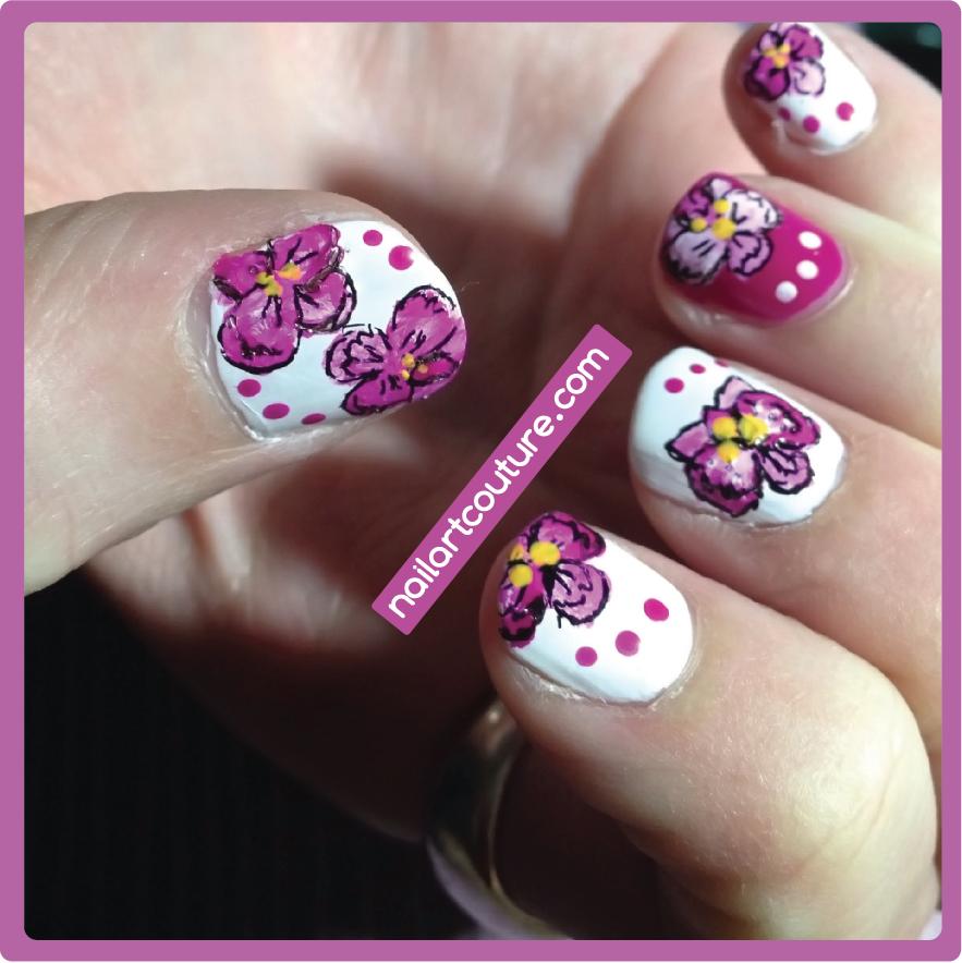 Nail Art Couture Converse Nail Art: Nail Art Couture★ !: Radiant Orchid Nails
