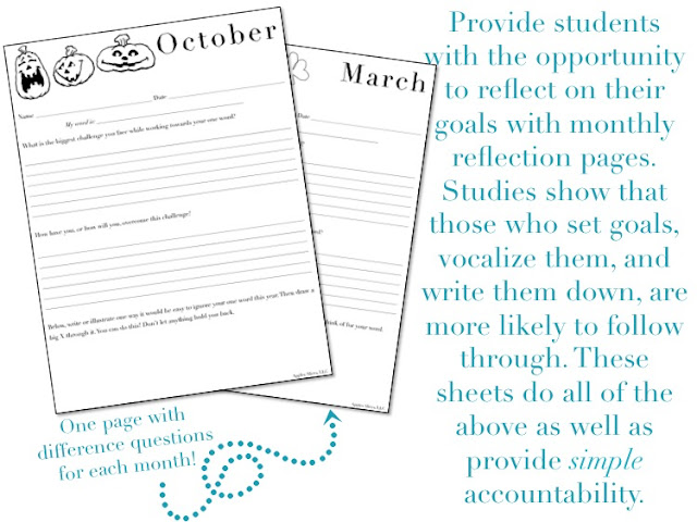 https://www.teacherspayteachers.com/Product/One-Word-for-the-Year-A-Goal-Setting-Activity-for-Students-and-Teachers-2357275