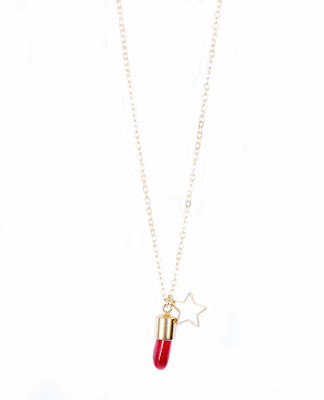 Collier fantaisie corail
