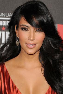 Kim Kardashian Dangling Gemstone Earrings