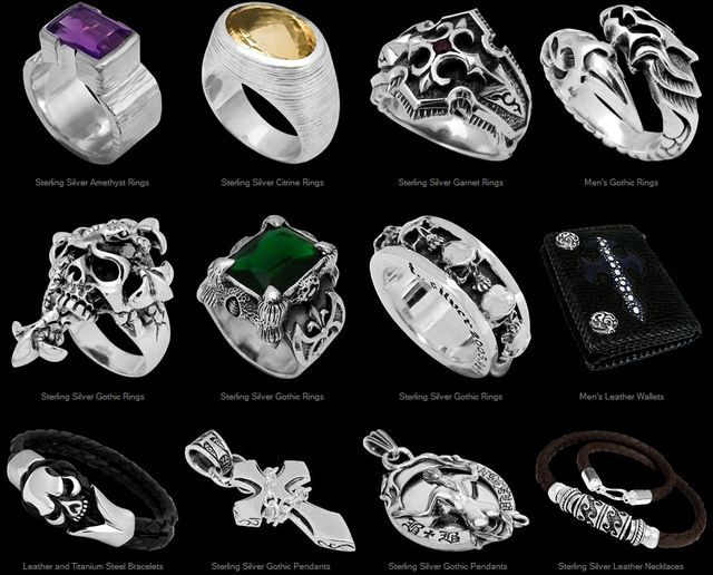 Handcrafted Sterling Silver Gothic Jewelry by JewelryByAnixi.Com
