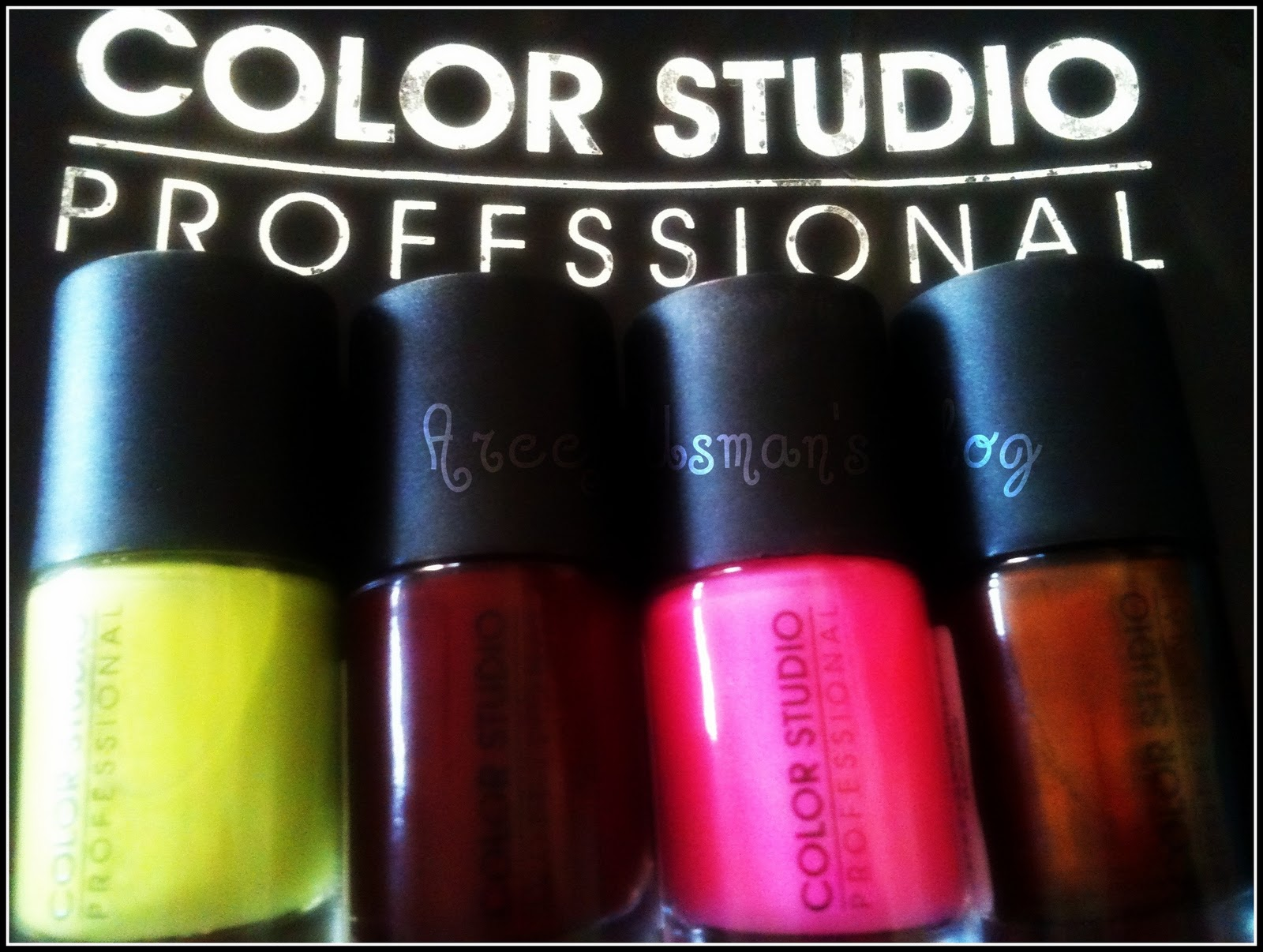 Areej Usman\'s Blog: ~Color Studio Professional Nail Colors & Swatced ...