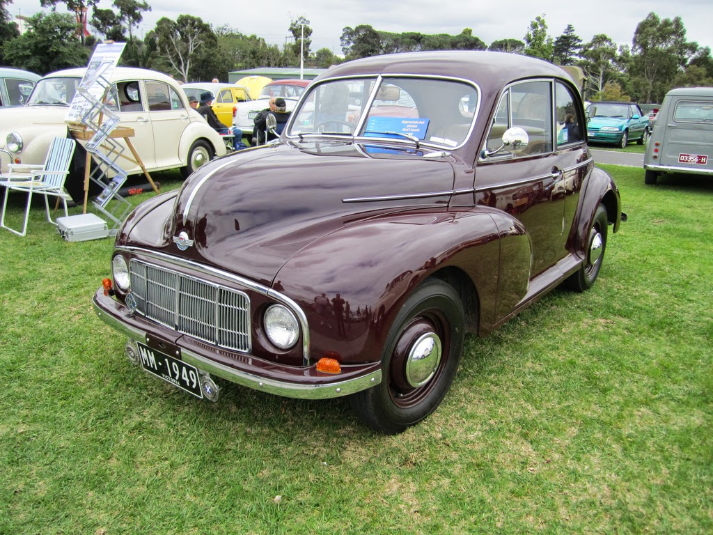 Series 1 Morris Minor with split windscreen and low headlights