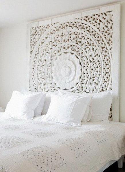 mandalas cuadros orientales tallados en madera con efecto blanco envejecido