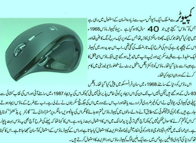 mouse information in urdu