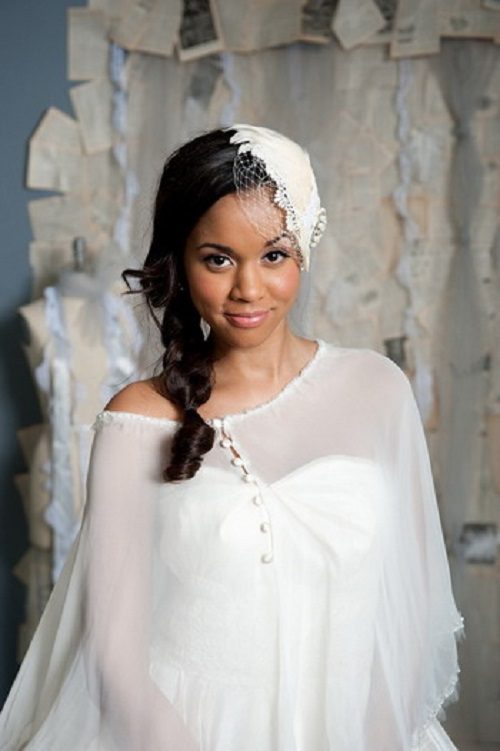 Pretty Wedding Hairstyles for African American Women with Long Hair