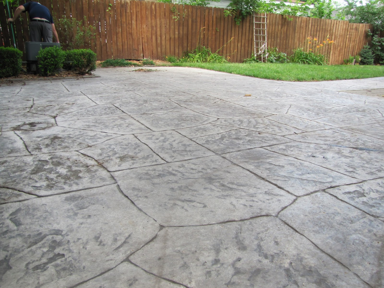 Sealing A Stamped Concrete Patio