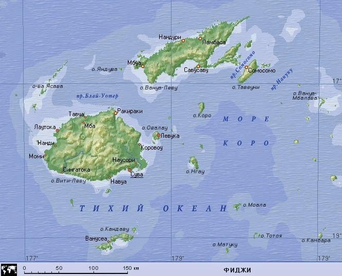 Фиджи-на-Карте