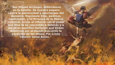 Arcangel san miguel ruega por nosotros