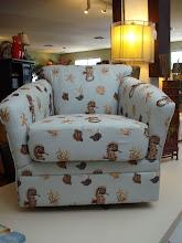Seahorse Print Swivel Chair