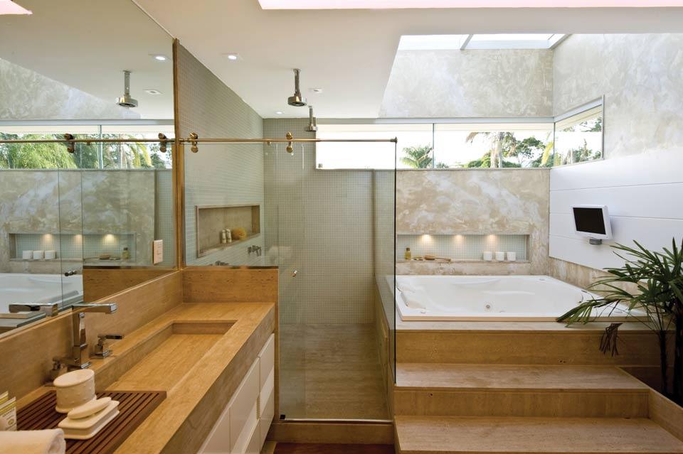 Iluminação zenital  veja ambientes e saiba tudo sobre essa tendência!  Deco -> Cuba De Vidro Para Banheiro Telha Norte