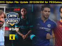 Option File PES 2015 untuk PES Galaxy patch 4.5  update 30 Agustus 2015