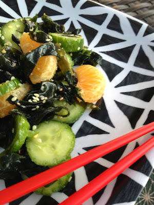 Cucumber & Wakame Salad with Clementines recipe