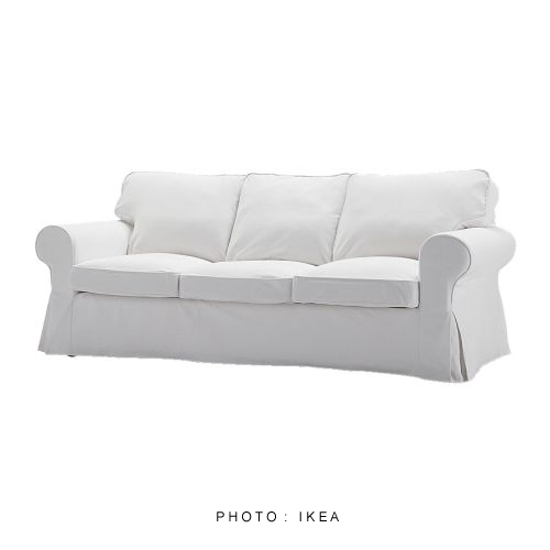 My Shabby Streamside Studio Catskills Yard Sale Ikea Blekinge White Ektorp Sofa Loveseat For