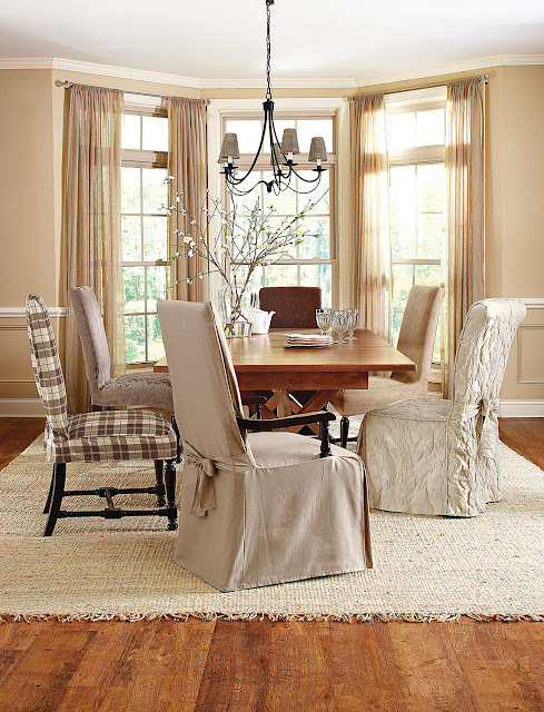 Sure fit slipcovers dining chair covers to fit your style for 4 dining room chair covers