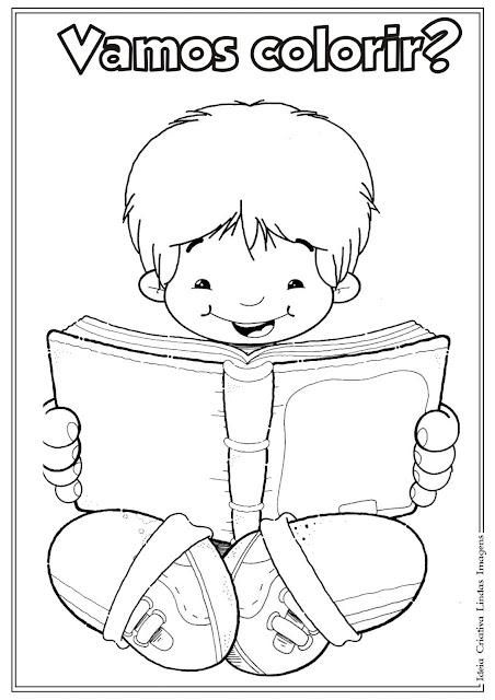 Desenho do Dia do Livro Infantil para colorir