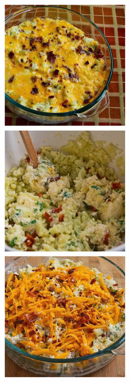 Twice-Baked Cauliflower found on KalynsKitchen.com