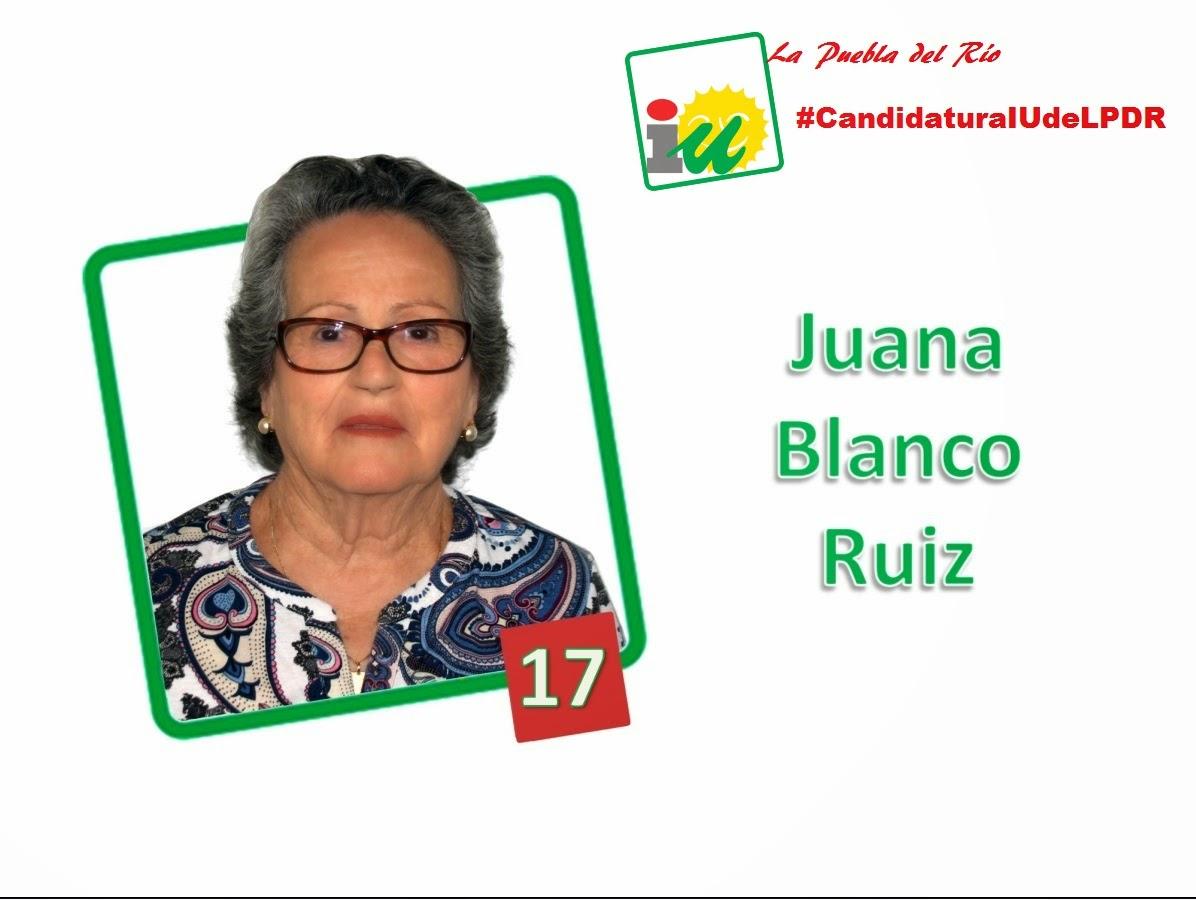 #CandidaturaIUdeLPDR Juana Blanco