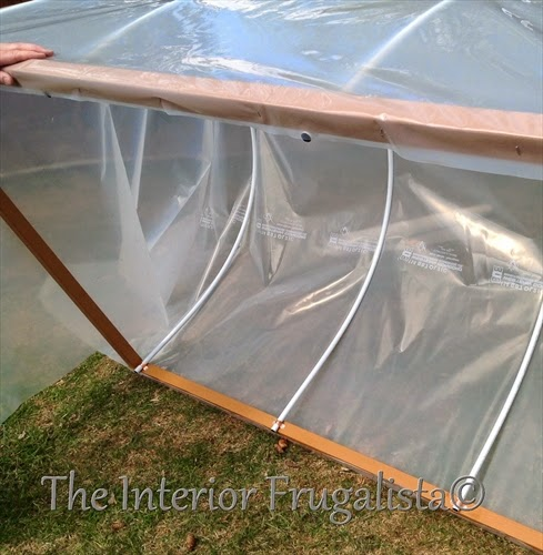 Mini greenhouses for raised beds with poly