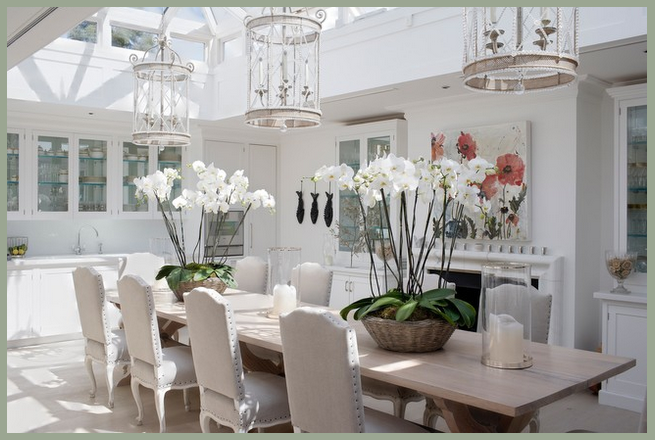 Modern country style dining by candle light - Modern country chic decor ...