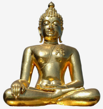 Sitting Golden Buddha