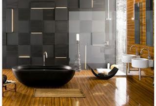 Banheiro moderno em madeira