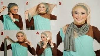 Cara Memasang Atau Memakai Jilbab Model Trend Terbaru