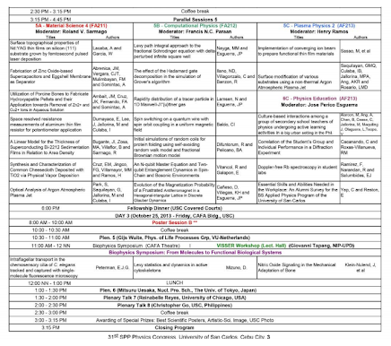 SPP 2013 Physics Congress Program version 2013.10.22 15:46 H, p. 4