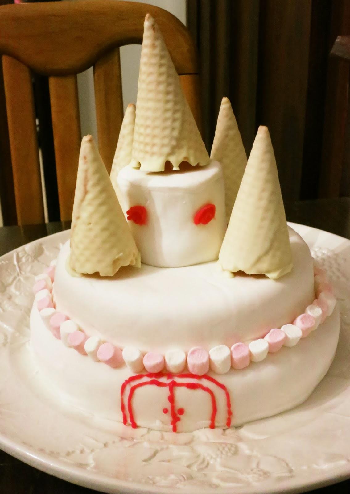 Castle Cake A Picture Plus A Thousand Words