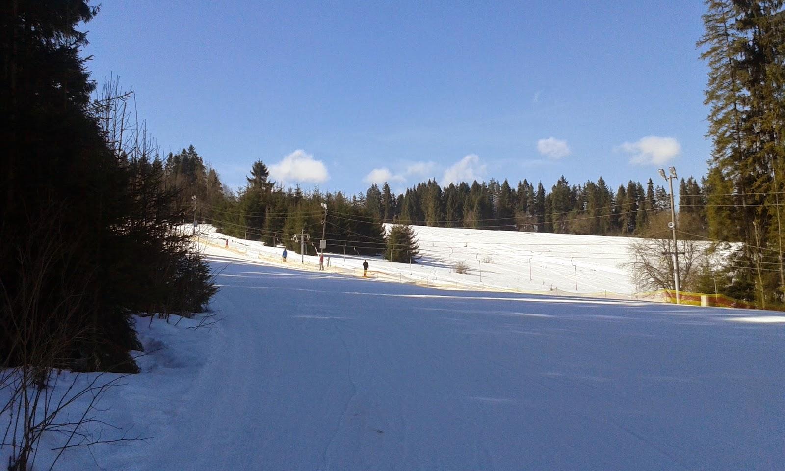 Wyciąg Zebra trasa narciarska