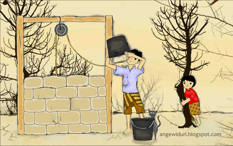 ilustrasi-dry-season-well-cartoon