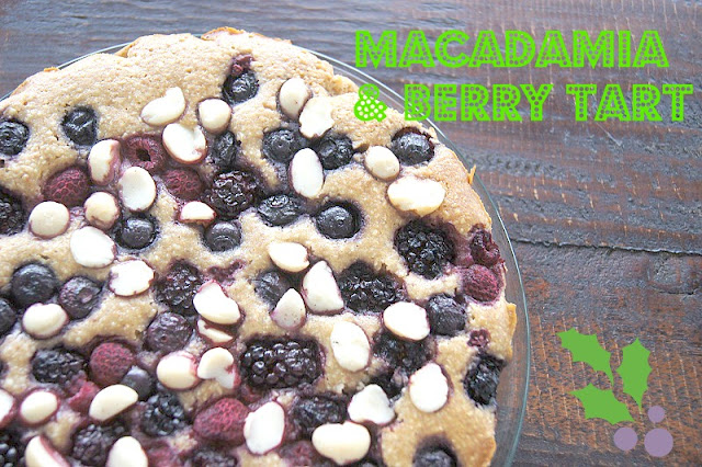 berry and macadamia tart