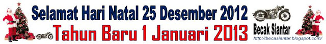 Becak Siantar Mengucapkan Selamat Natal 25 Desember 2012