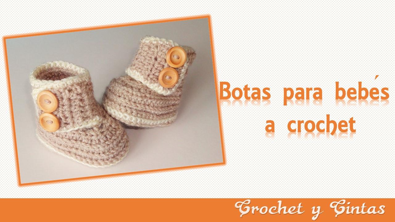 Botas – zapatos para bebés tejidas a crochet o ganchillo ~ Crochet y ...