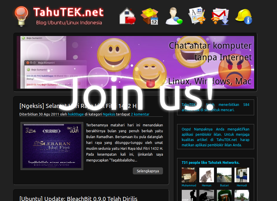 Bergabung menjadi penulis di TahuTEK.net