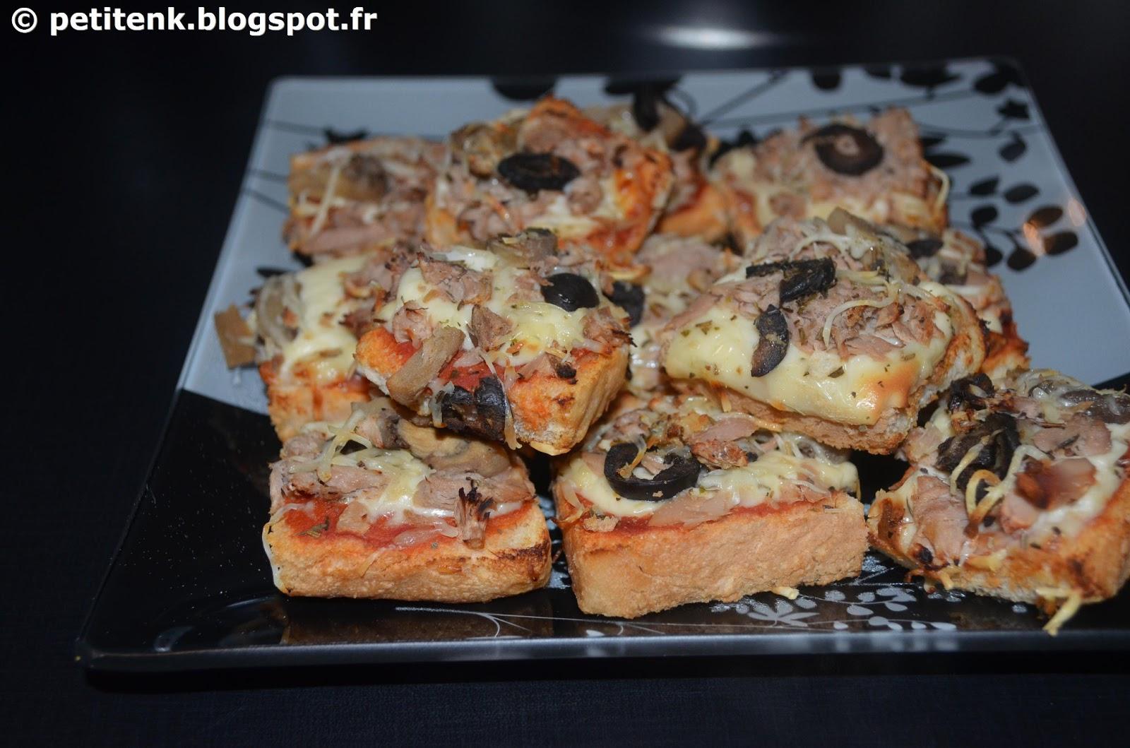 Petit en k mini pizza ap ritif facile et rapide - Apero facile et rapide ...