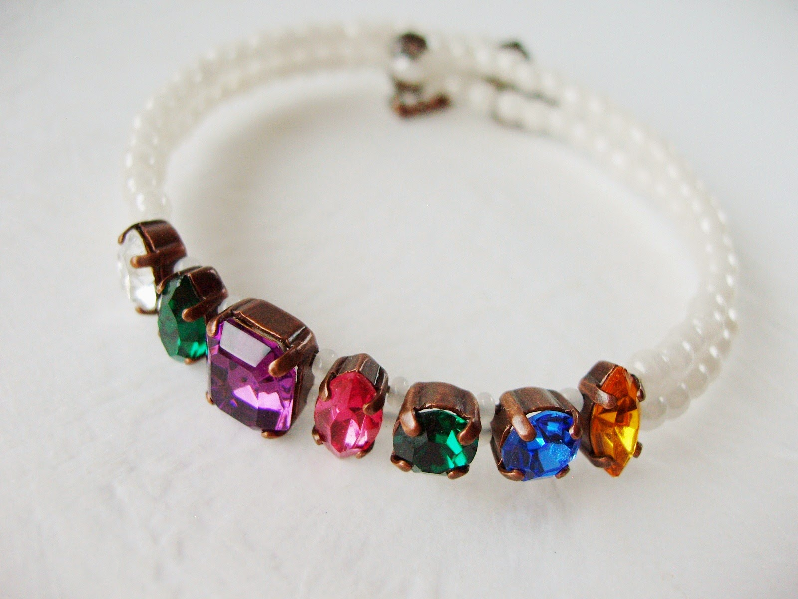acrostic vintage style rhinestone crystal