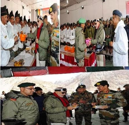 दिवाली के मौके पर आज प्रधानमंत्री नरेंद्र मोदी ने सियाचिन ग्लेशियर पर तैनात भारतीय सैनिकों के साथ कुछ समय बिताया और वहां संदेश दिया कि सभी भारतीय उनके साथ कंधे से कंधा मिलाकर खड़ा है। शायद पहली बार किसी प्रधानमंत्री को दीपावली के शुभ दिन हमारे जवानों के साथ समय बिताने का अवसर मिला है।