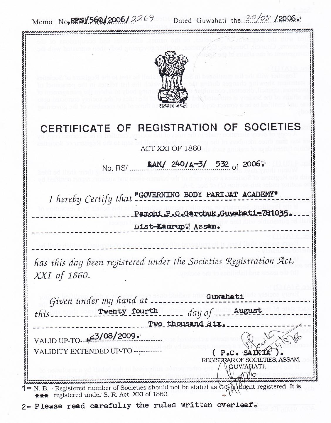 Parijat academy registered under societies registration act xxi trust deed as charitable trust registered in guwahati deputy commissioner court kamrupm assam india 1betcityfo Images